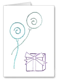 balloons card pattern