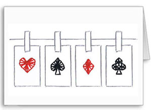 cards on a line