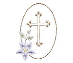 Easter cross stitch card pattern